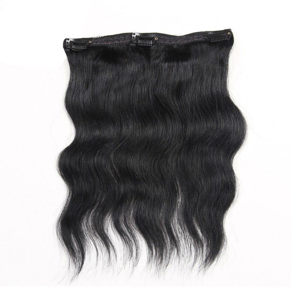 Clip in human hair extensions body wave virgin remy human hair