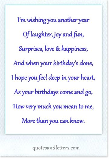 Happy Birthday Quotes 1 Birthday Verses For Cards Verses For