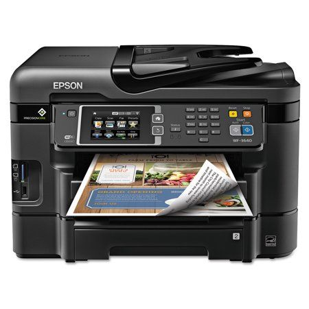 Epson Workforce Wf 3640 All In One Wireless Color Printer Copier