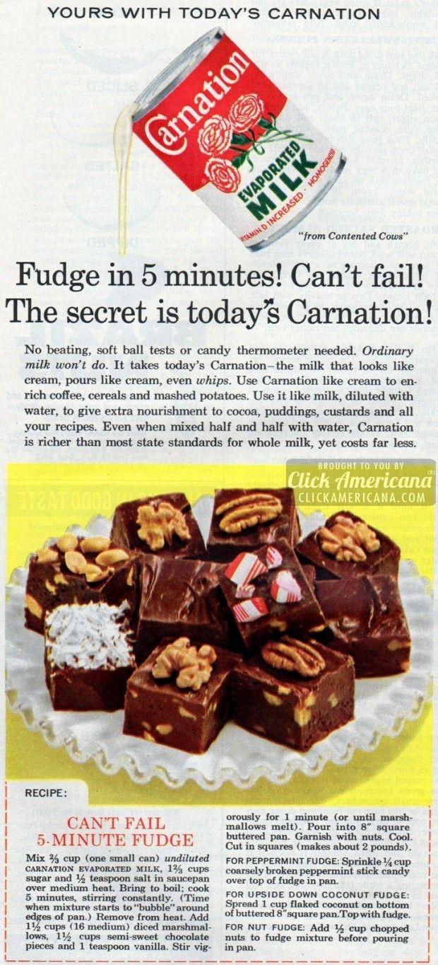 Get The Famous Can T Fail 5 Minute Fudge Recipe Plus 10 More Fast Vintage Fudge Recipes Recipe Fudge Recipes Evaporated Milk Recipes Easy Chocolate Fudge