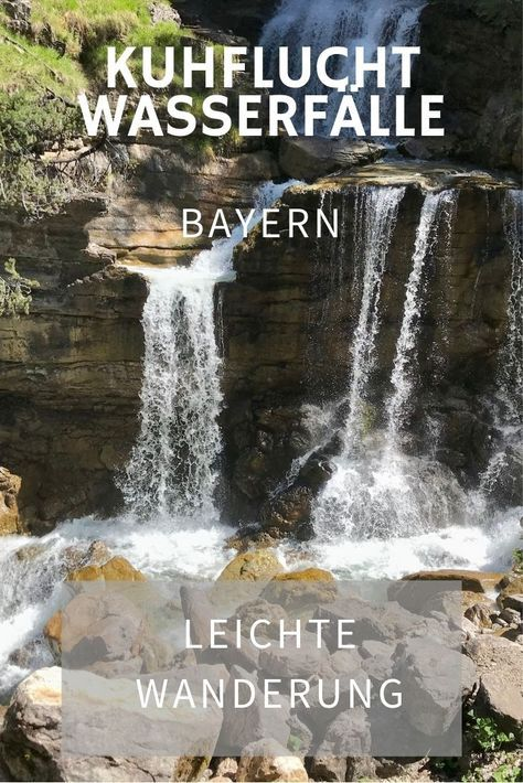 Photo of The Kuhflucht waterfalls are one of the most beautiful excursion destinations in …
