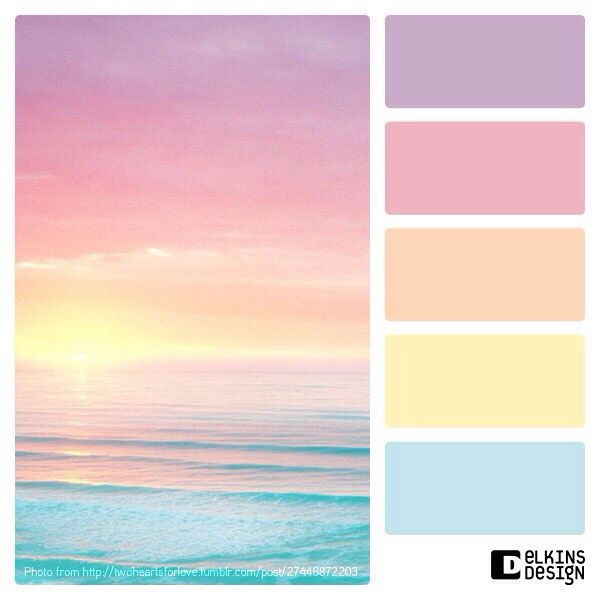 Perfect Color Combinations ocean sunrise - color palettes | color combinations | pinterest
