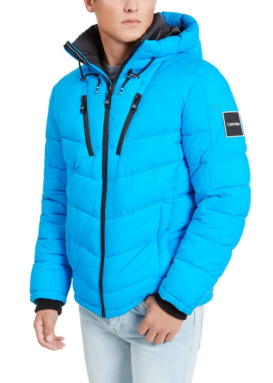 Calvin Klein Men S Neon Puffer With Hood Created For Macy S Neon Blue Calvin Klein Men Big Clothes Blue Fashion [ 1500 x 1069 Pixel ]