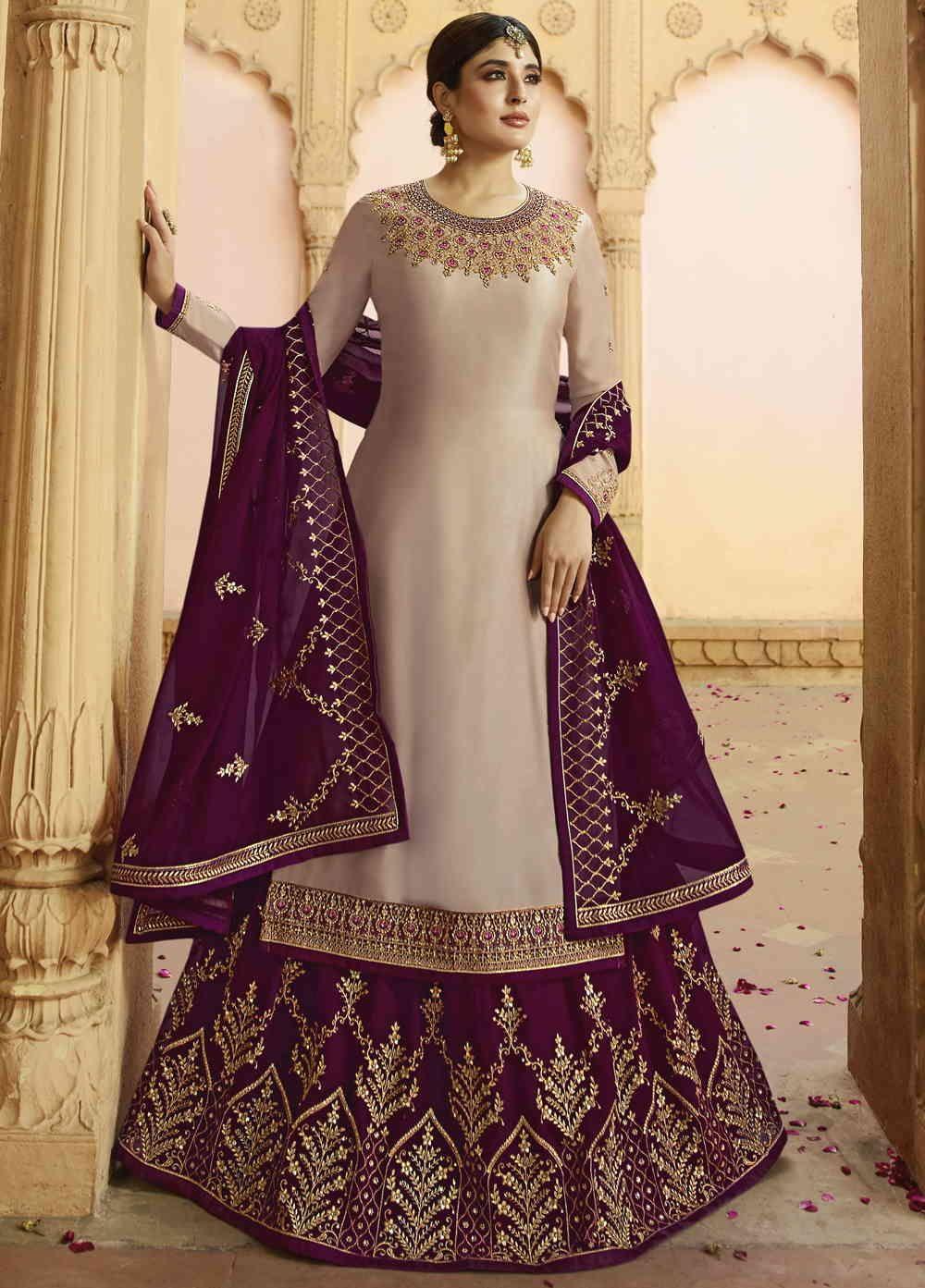 Buy Online Bewitching Chiku Party Wear Lehenga Style Suit Starring Kritika Kamra at reasonable ...