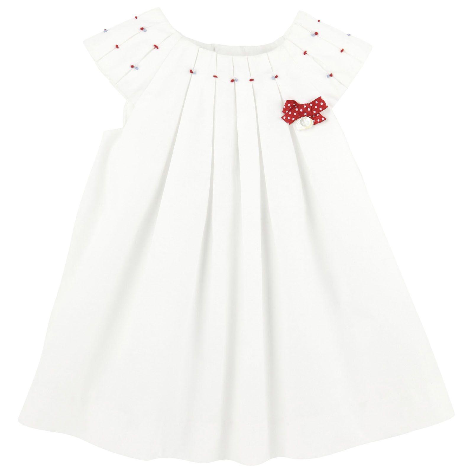Robe En Popeline Blanche Tartine Et Chocolat Pour Bebe Melijoe Com Diy Roupa Infantil Vestidos Infantis Vestidos De Moda Infantil