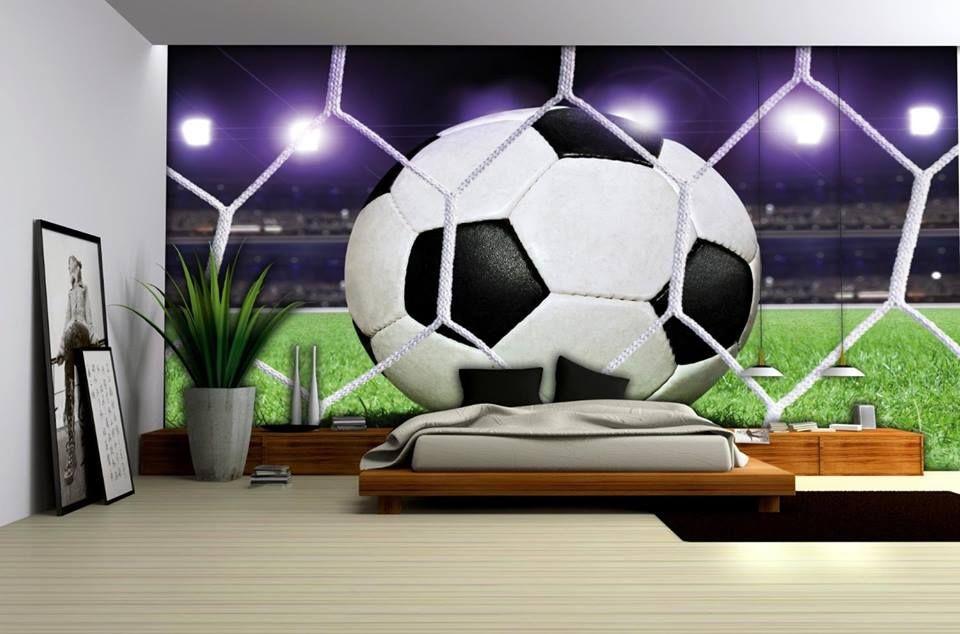 Coole Fototapete für das Kinderzimmer kleiner Fußballfans