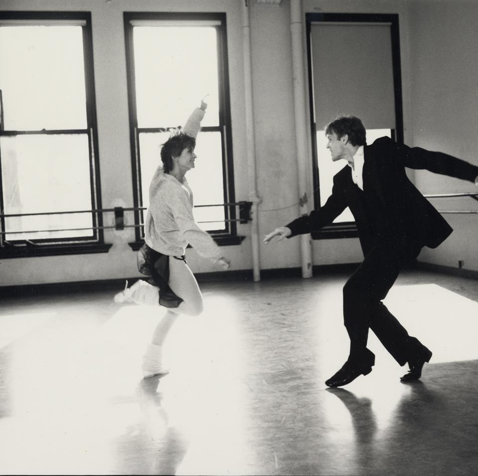Ex-American Ballet Director Mikhail Baryshnikov Practicing