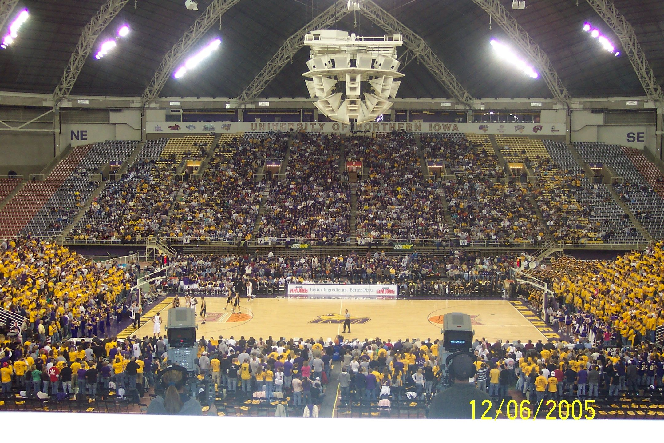 The University of Northern Iowa dome (known as the UNI Dome ...
