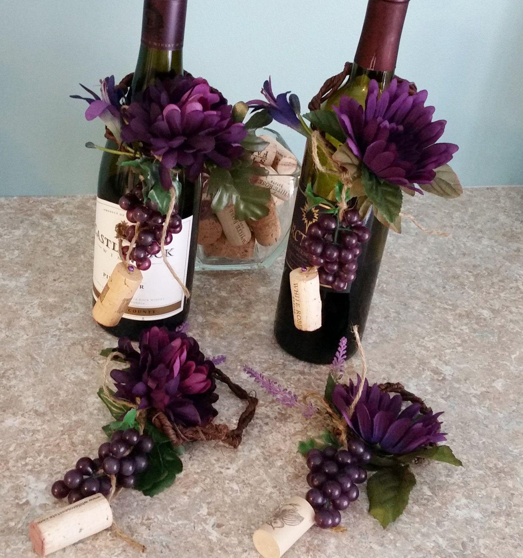 Wine Bar Kitchen Decor grape corks wine