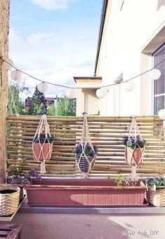 Bambus Sichtschutz selber bauen – DIY Balkon Idee