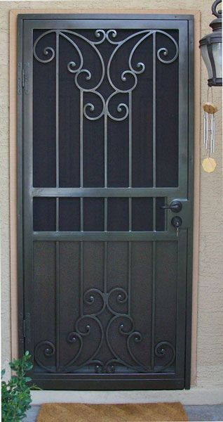 Wrought Iron Doors, Grill Door Design, Door Design