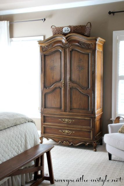The Armoire Reveal Master Bedroom Vintage Drexel Heritage Diy Repairs Craigslist Find