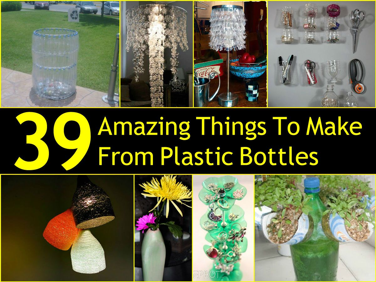 39 amazing things to make from plastic bottles plastic for Craft by waste things