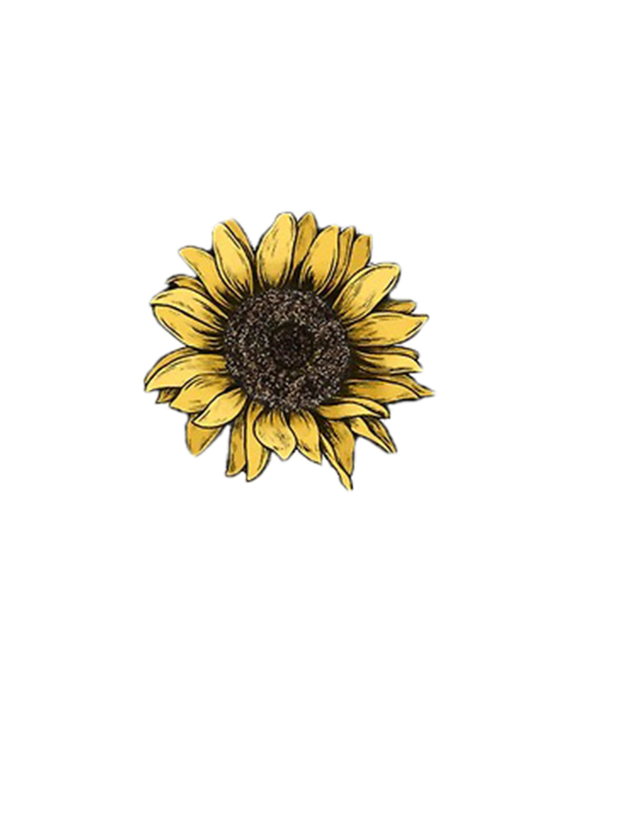 Sunflower Tattoo Art Draw Yellow Flower Sunflower Drawing Sunflower Tattoo Small Tattoo Art Drawings