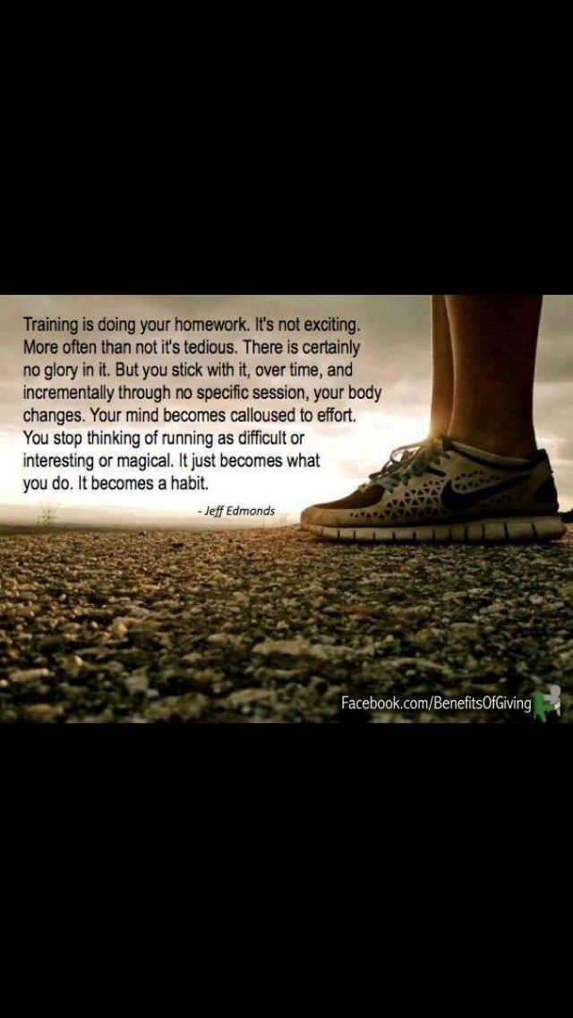 It's my thing. Running.