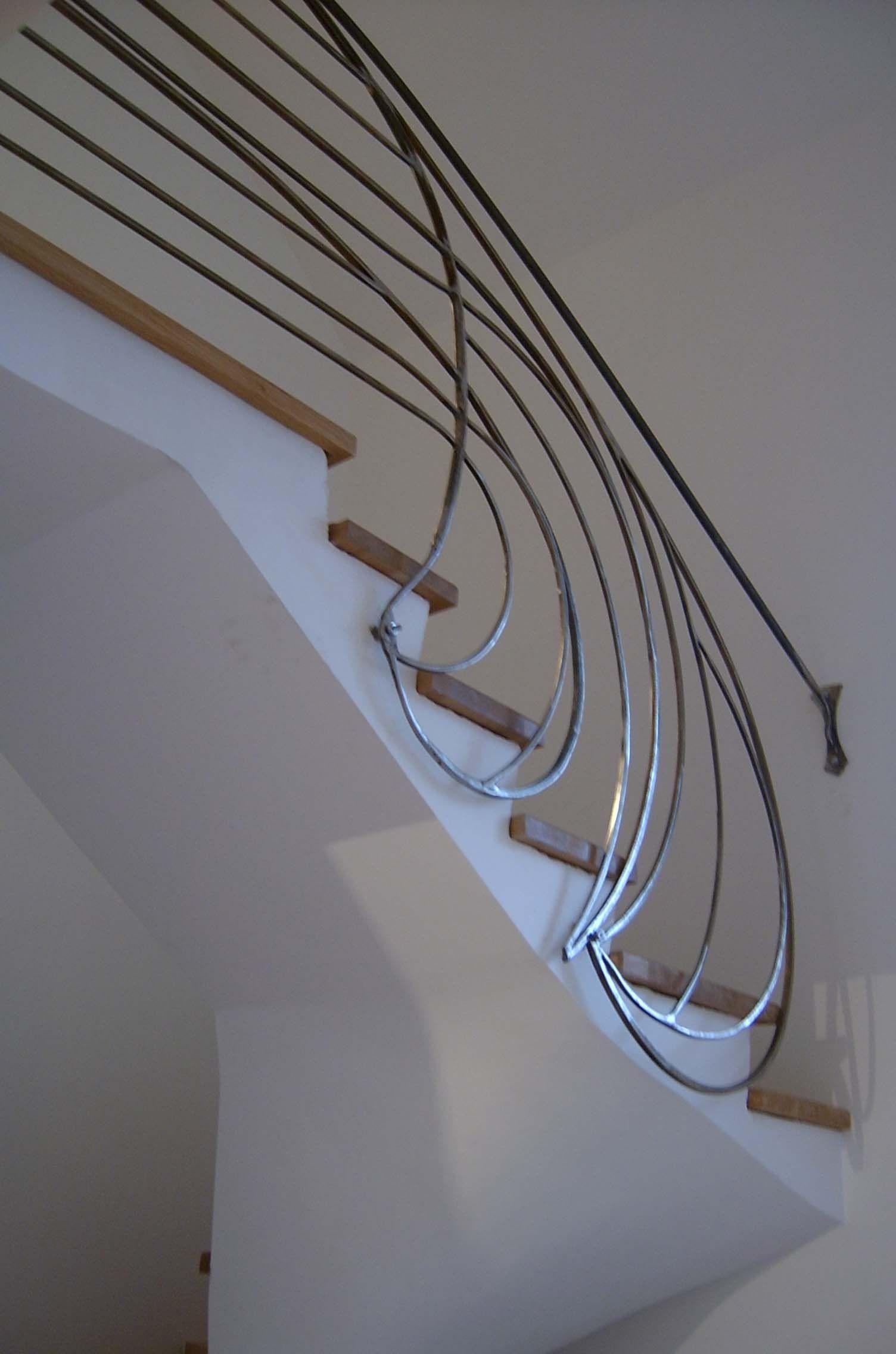 rampe d 39 escalier en fer forg arts and crafts pinterest escalier en fer forg rampes et. Black Bedroom Furniture Sets. Home Design Ideas