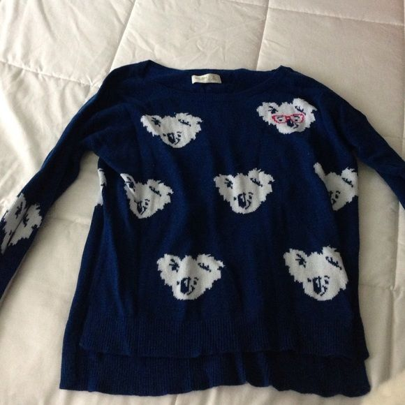 Gilly Hicks sweater Blue with koalas. Worn a handful of times! Make offers Gilly Hicks Sweaters Crew & Scoop Necks