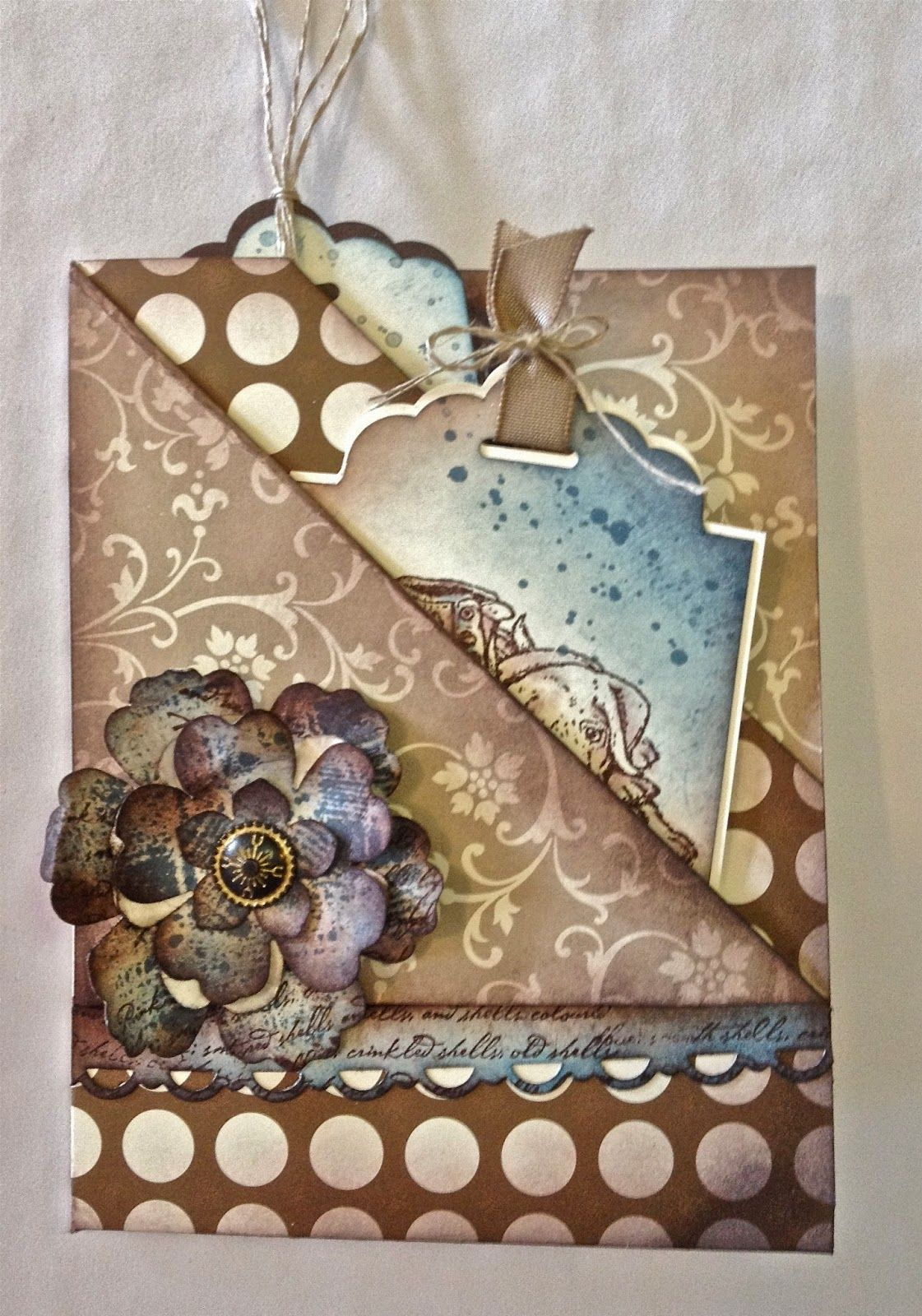 double diagonal fold card  with a difference  beautiful
