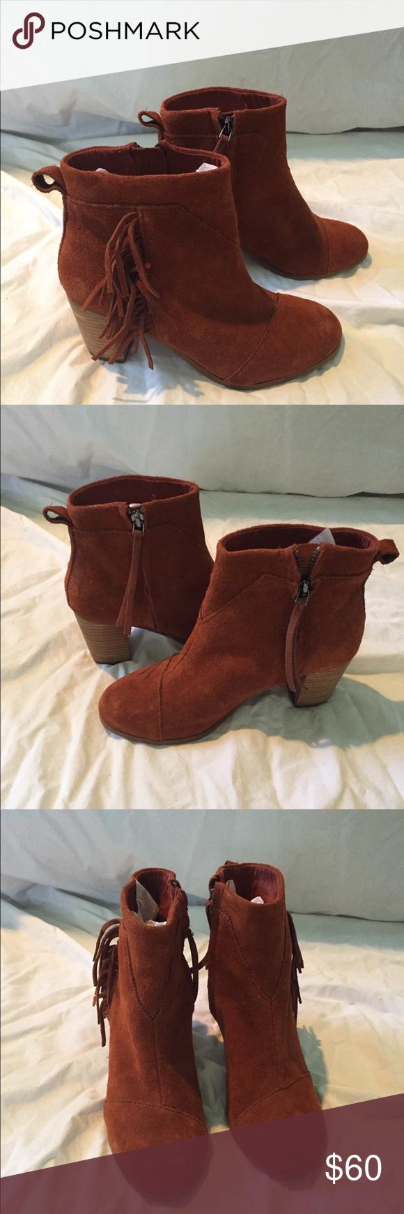NEW Toms fringe ankle boots | Fringe