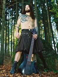kilt with a bass