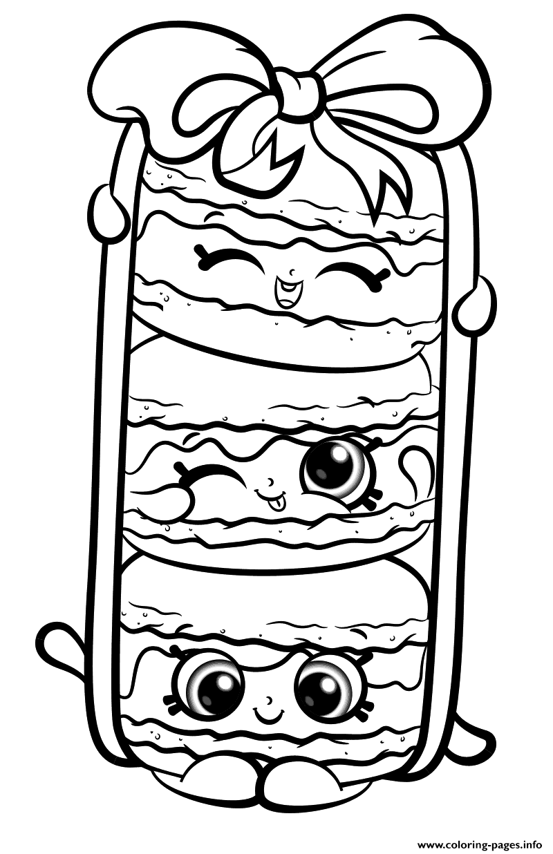 Print Stack Le Macarons from Shopkins Season 8 coloring