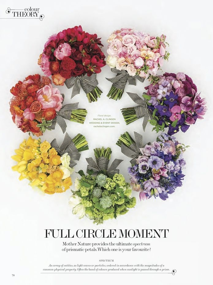 Colourful Bouquets For WedLuxe Magazine | Rachel A. Clingen Weddings ...
