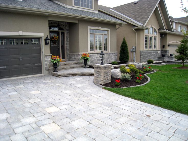 Driveway interlock designs google search backyard for Soft landscaping ideas