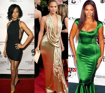 Different celebrity body shapes