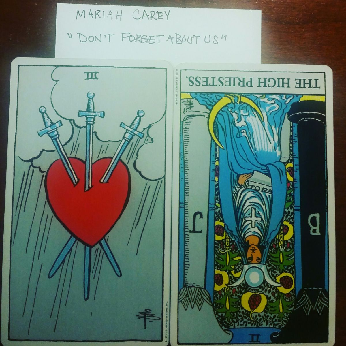 3 of Swords and Trepidation
