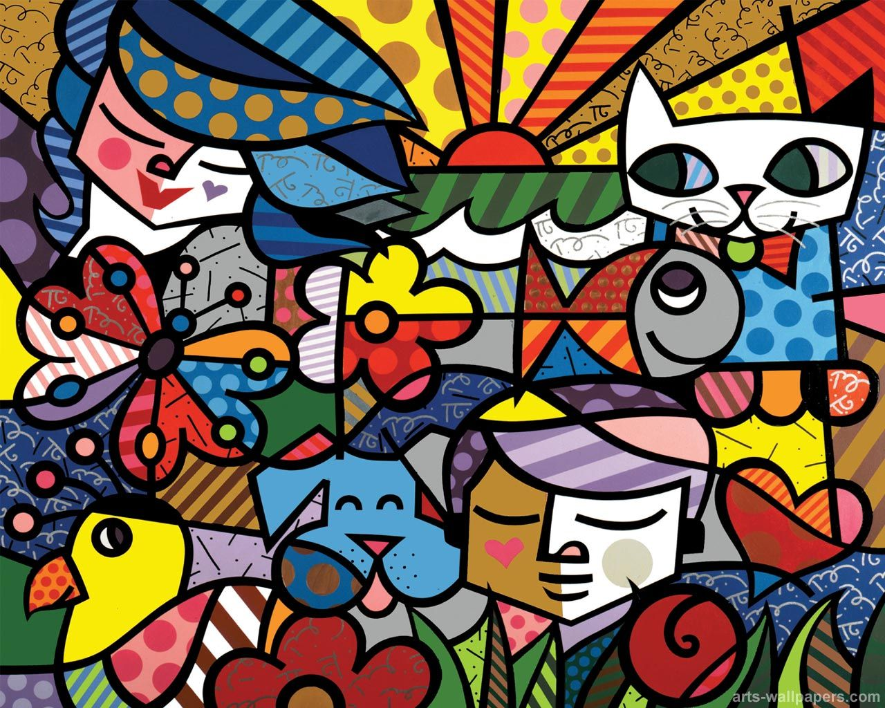 28 best images about Art: Romero Britto on Pinterest | Happy, Hand ...