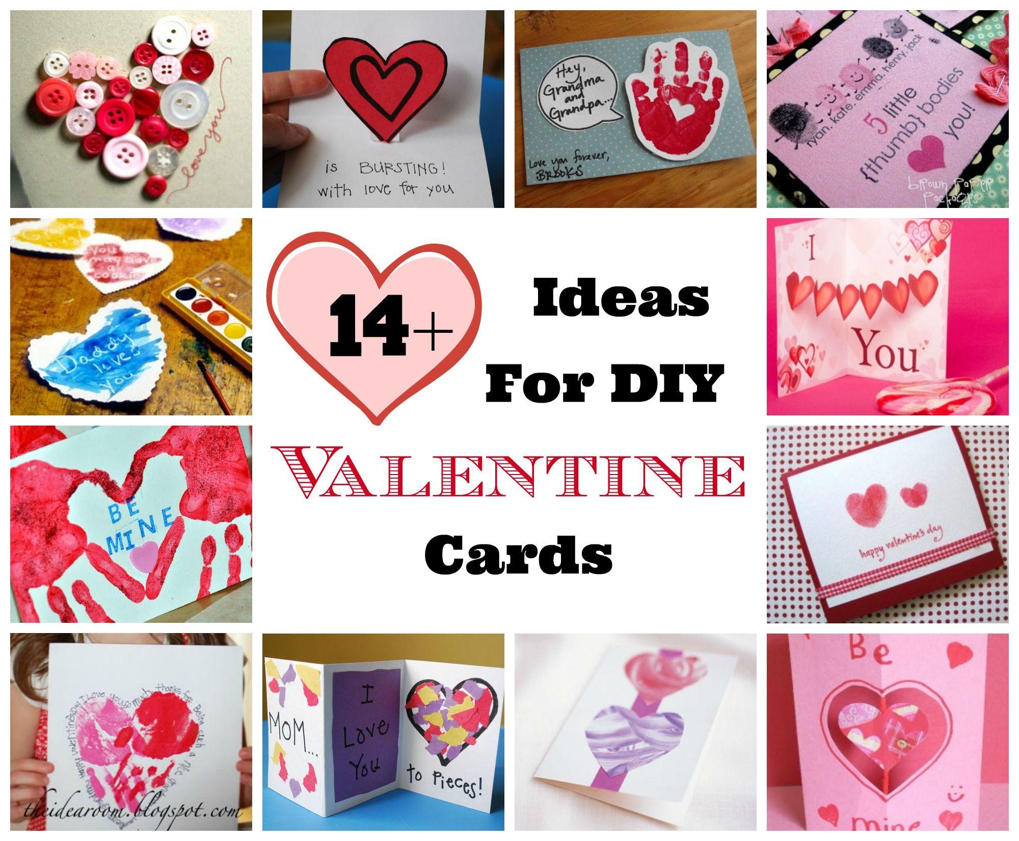 14+ Creative Ideas for DIY Homemade Valentine Cards | Valentine\'s ...