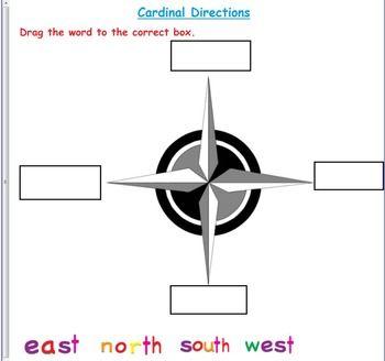 Cardinal Direction Smart board Activities   Smart board activities ...