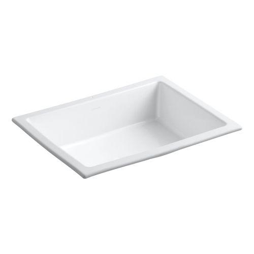 Kohler K2882-0 Verticyl Undermount Style Bathroom Sink - White at Ferguson.com