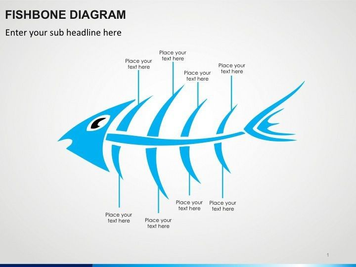 Fishbone Diagram Powerpoint Template  Explain The Relation
