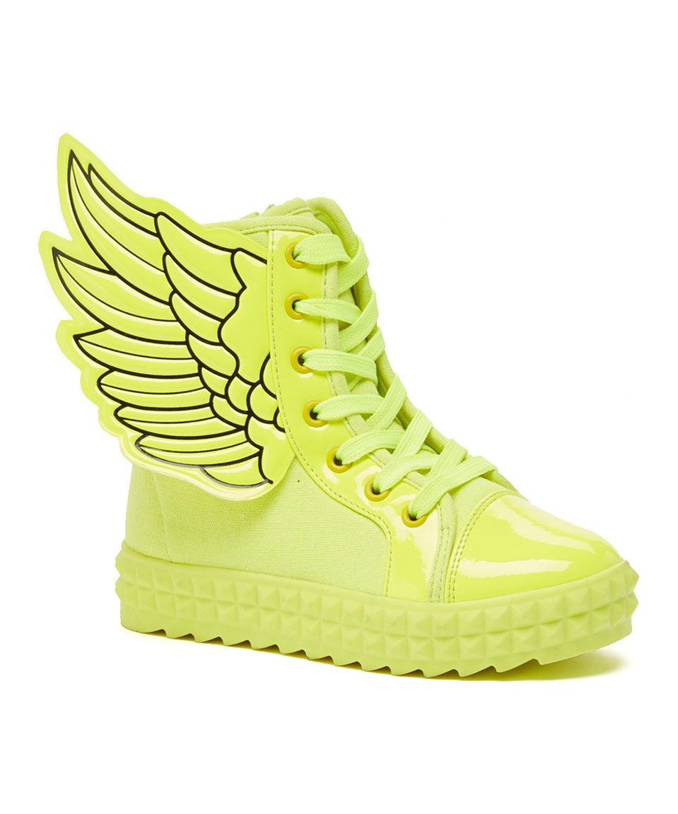 Loving this COCO Jumbo Yellow Angel Hi-Top Sneaker on #zulily! #zulilyfinds