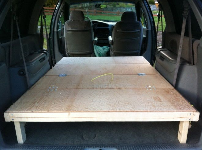 Minivan Camper Conversion Stage One Complete