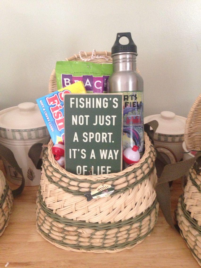 Diy fathers day fishing gift basket fishing gift