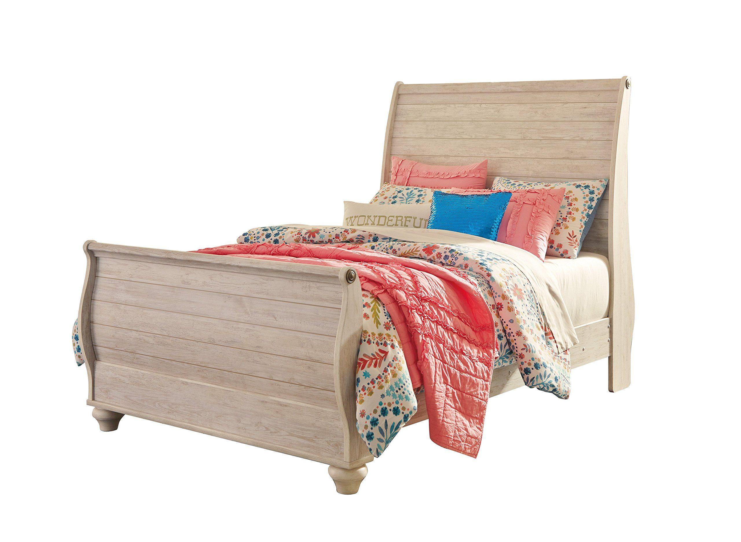 Ashley Willowton 4PC Twin Sleigh Bedroom Set In White