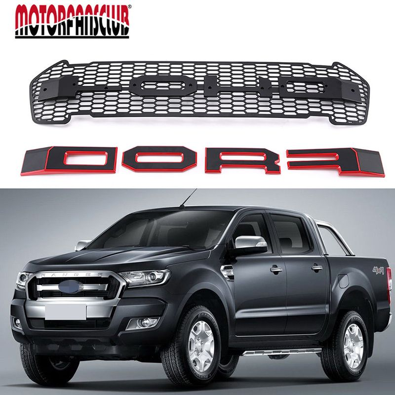 Matte Black Front Grille Grill For Ford Ranger T6 Facelift Mk2 Xlt