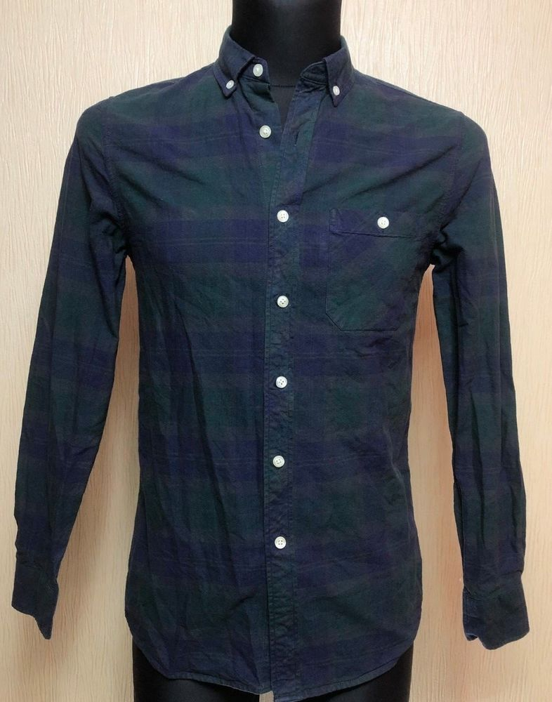 TOPMAN Dress Shirt Long Sleeve Button Down Men's Slim Fit