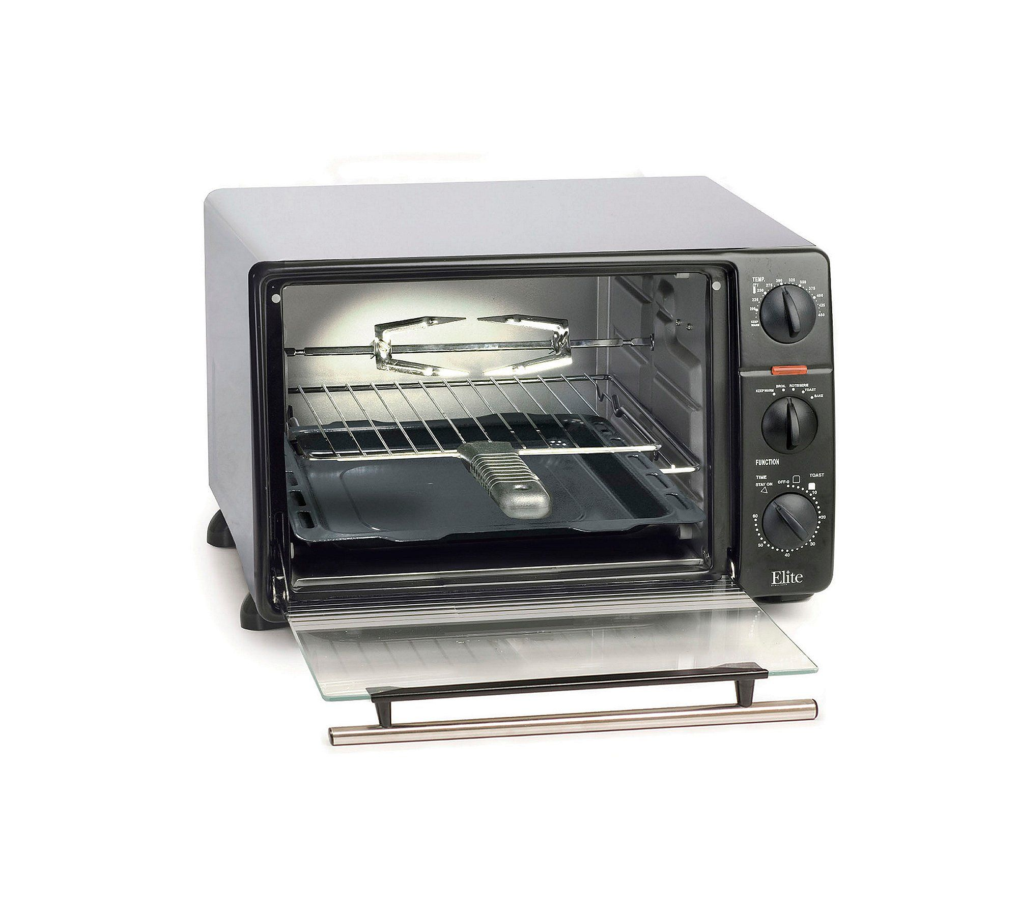 Elite Cuisine Toaster Oven Broiler With Rotisserie Visit The