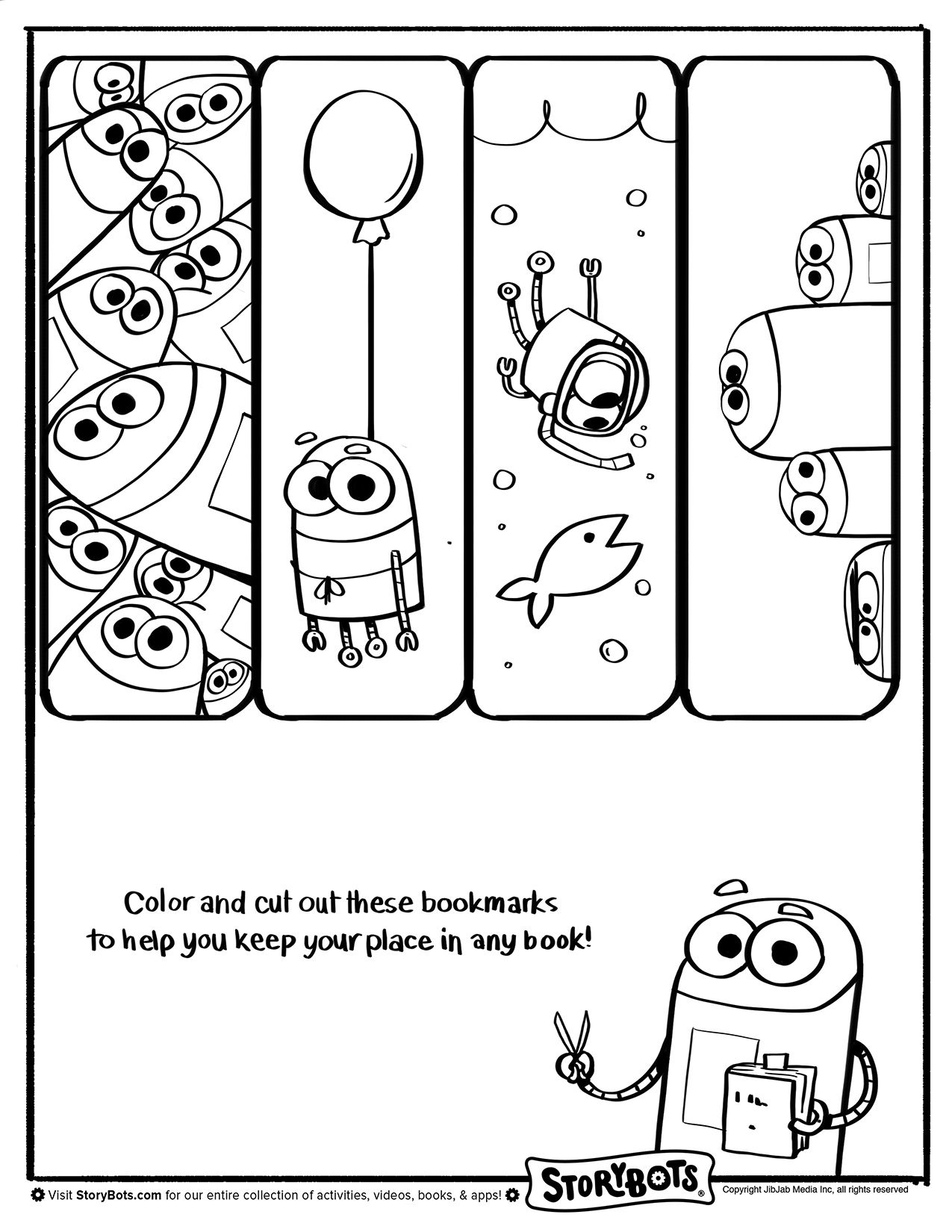 Storybots Bookmarks