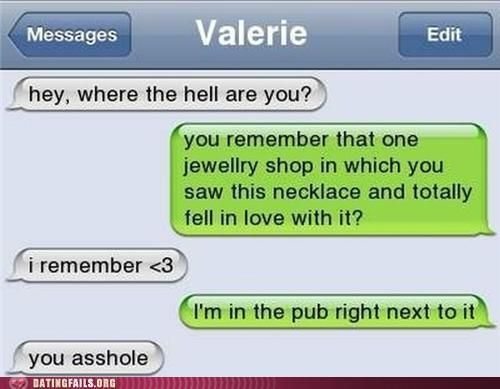 Dating text messages gone wrong