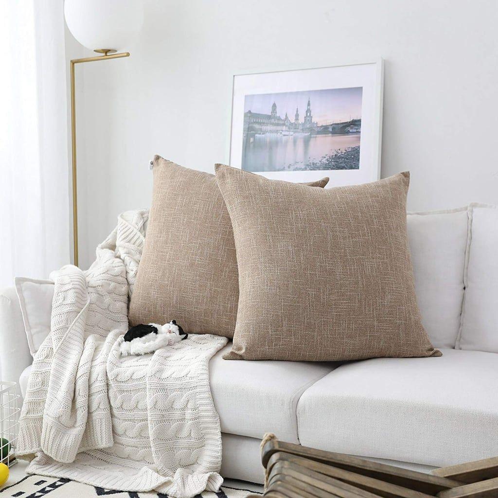 textile decor burlap lined linen throw