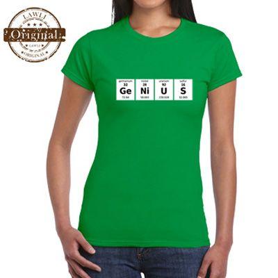 Fanny t-shirt  Vtipné trička pre ženy s motívom Genius. http://www.lawli.sk/darcek/eshop/17-1-Vtipne-tricka-Damske