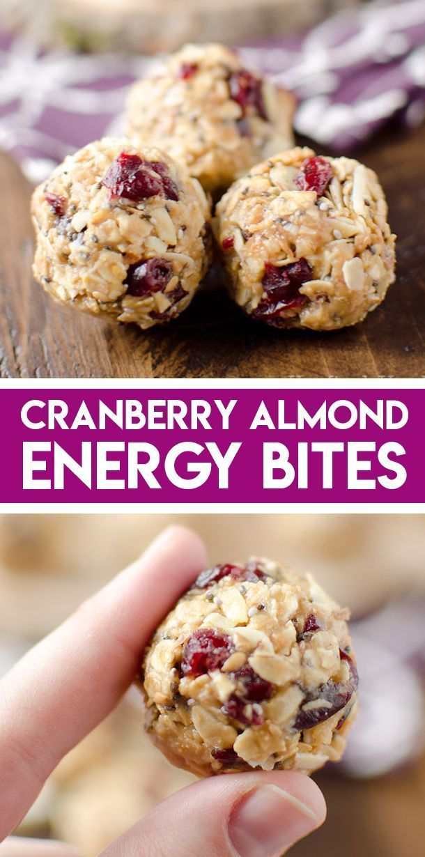 Photo of Cranberry Almond Energy Bites – Easy Healthy Snack
