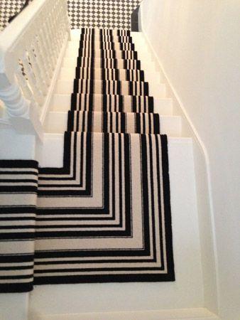 Black And White Striped Stair Carpet Striped Carpets Black | Black And White Stair Carpet | Interior Design | Light Grey | Unusual | Design | Beautiful