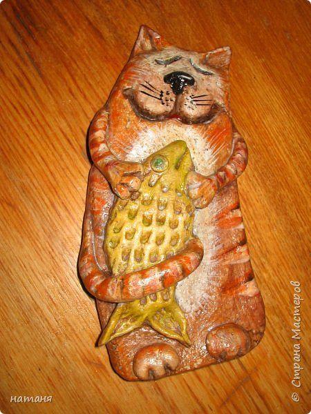 Поделка изделие <u>своей</u> Лепка Накорми котика и рыба моей мечты Тесто соленое фото 5