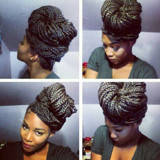 Brilliant 1000 Images About Braid Central On Pinterest Cute Box Braids Short Hairstyles For Black Women Fulllsitofus