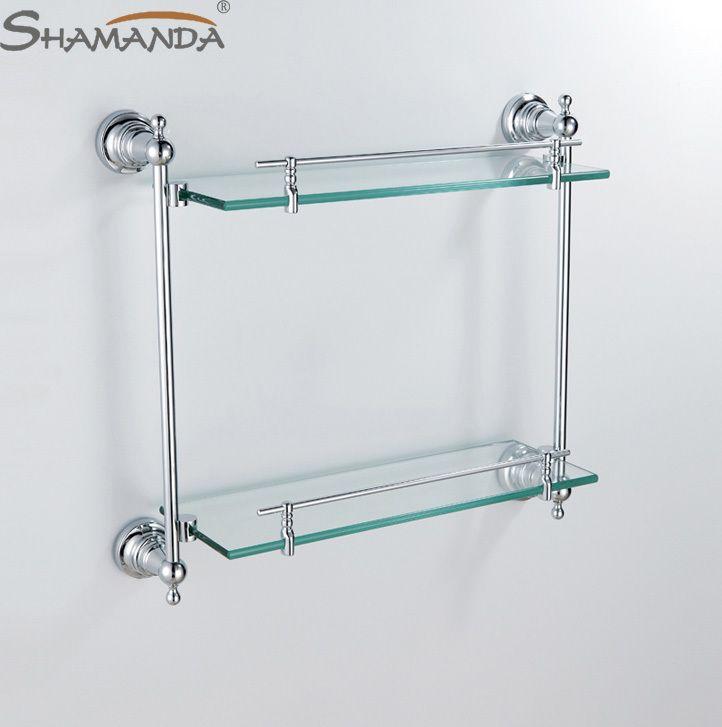 bathroom shelves glass chrome | pinterdor | Pinterest | Chrome ...
